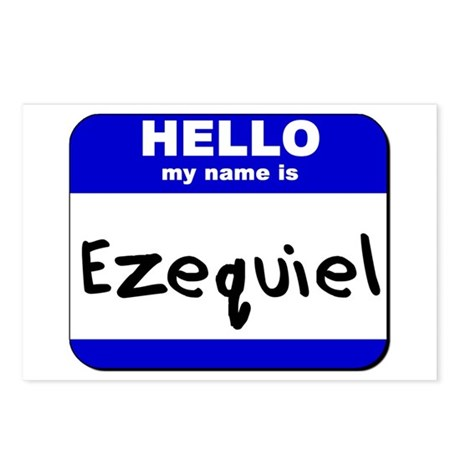 hello my name is ezequiel Postcards (Package of 8