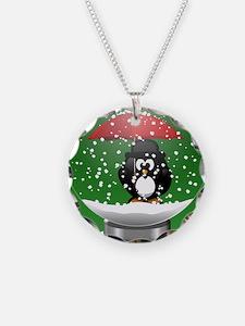 Snowglobe Penguin Necklace