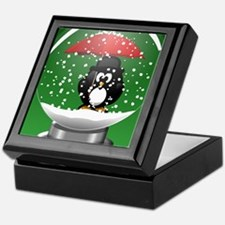 Snowglobe Penguin Keepsake Box