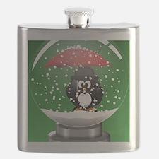 Snowglobe Penguin Flask