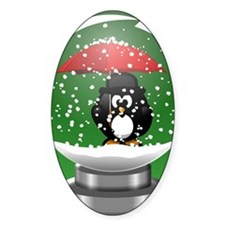 Snowglobe Penguin Decal