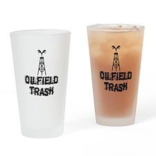 Oilfield Trash Drinking Glass