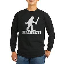 MACHYETI BLACK Long Sleeve T-Shirt