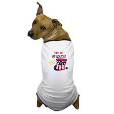 Hats Off AMERICA! Dog T-Shirt