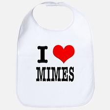 I Heart (Love) Mimes Bib