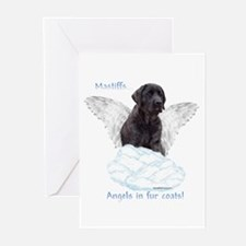 Mastiff(brindle) Angel Greeting Cards (Package of