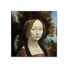 """Leonardo da Vinci - Ginevra Square Sticker 3"""" x 3"""""""