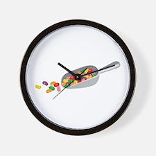 Jelly Bean Scoop Wall Clock