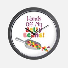 Hands Off My Jelly Beans! Wall Clock