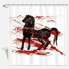 Egyptian Chariot Horses Shower Curtain