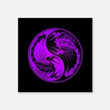Purple Yin Yang Scorpions on Black Sticker