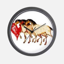 Love Horses Wall Clock