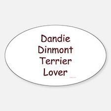 Dandie Lover Oval Decal