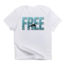 Free Tilly Sea Blue Infant T-Shirt