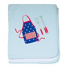 Patriotic Grill Accessories baby blanket