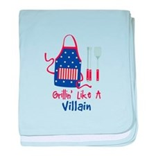 Grillin Like A Villain baby blanket