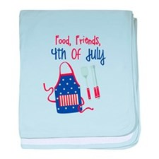 Food,Friends, 4th of july baby blanket