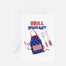 GRILL SERGEANT Greeting Cards