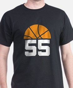 Basketball Number 55 Player Gift T-Shirt