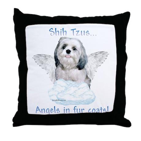 Shih Tzu Angel Throw Pillow