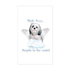 Shih Tzu Angel Rectangle Decal