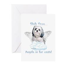 Shih Tzu Angel Greeting Cards (Pk of 10)