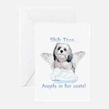 Shih Tzu Angel Greeting Cards (Pk of 10)