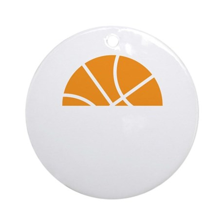 Basketball Number 52 Player Gift Ornament (Round)
