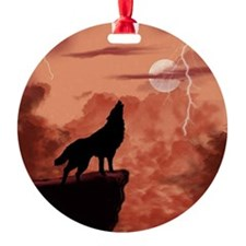 Howling In The Night Ornament