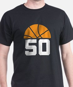 Basketball Number 50 Player Gift T-Shirt