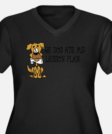 My Dog Ate My Lesson Plan Plus Size T-Shirt