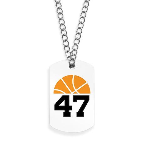 Basketball Number 47 Player Gift Dog Tags