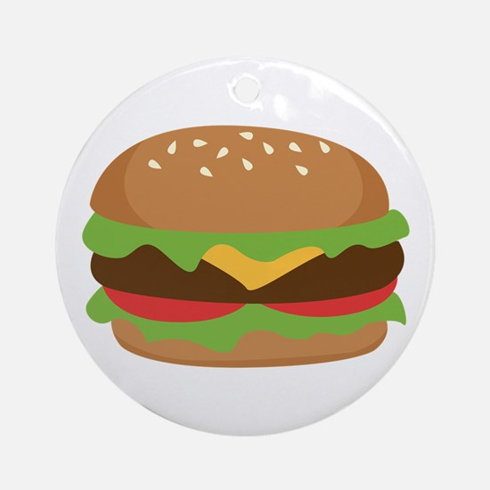 Hamburger Ornament (Round)