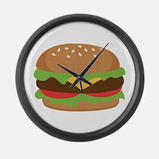 Hamburger Large Wall Clock