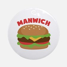 Manwich Ornament (Round)