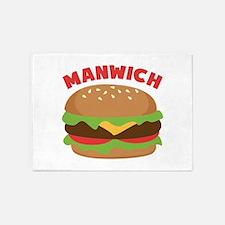 Manwich 5'x7'Area Rug