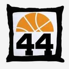 Basketball Number 44 Player Gift Throw Pillow