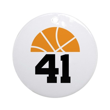 Basketball Number 41 Player Gift Ornament (Round)