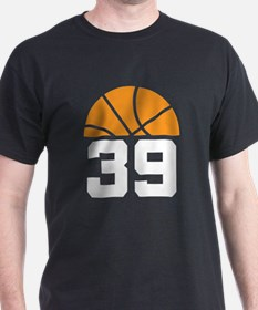 Basketball Number 39 Player Gift T-Shirt