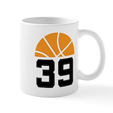 Basketball Number 39 Player Gift Mug