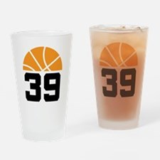 Basketball Number 39 Player Gift Drinking Glass