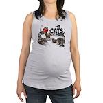 """Maternity Tank Top """"I Love Cats"""""""