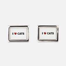 """I Love Cats"" Rectangular Cufflinks"