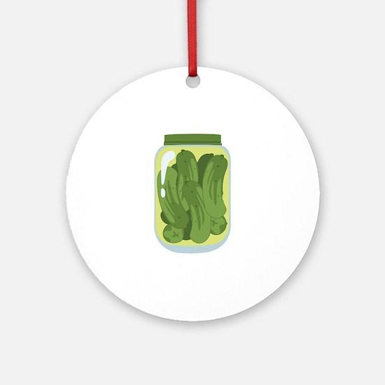 Pickle Jar Ornament (Round)