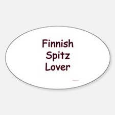 Finnish Spitz Lover Oval Decal