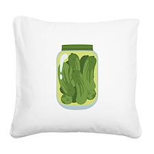 Pickle Jar Square Canvas Pillow