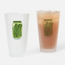 Pickle Jar Drinking Glass