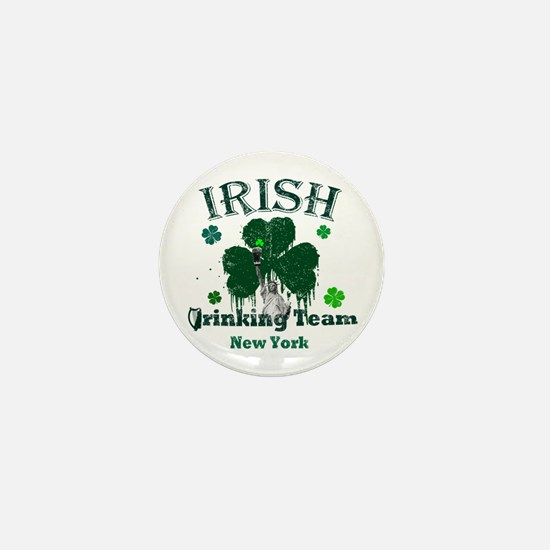 Irish Drinking Team New York Mini Button
