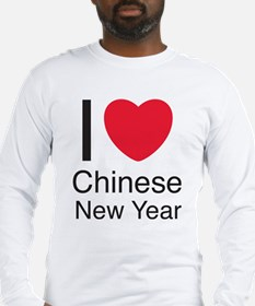 I Love Chinese New Year Long Sleeve T-Shirt