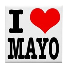 I Heart (Love) Mayo (Mayonaise) Tile Coaster